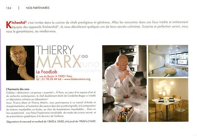 FRANCE, Paris, 2009..Advertising catalog of KitchenAid, 2009/2010..FRANCE, Paris, 2009..Catalogue publicitaire KitchenAid 2009/2010..© Bruno Cogez