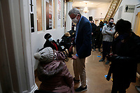 NEW YORK, NEW YORK- FEBRUARY 27, 2021: New York City Mayor Bill De Blasio delivers remarks at the Pop-Up COVID-19 Vaccination site at the First Corinthian Baptist Church in the Harlem section of New York City on February 27, 2021.  Photo Credit: mpi43/MediaPunclh