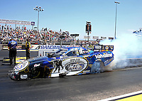 Jul. 21, 2013; Morrison, CO, USA: NHRA funny car driver Jack Beckman during the Mile High Nationals at Bandimere Speedway. Mandatory Credit: Mark J. Rebilas-