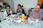 Discussing their next On Line cookery class recipe in Johnny's Cottage on Saturday morning. L to r: Miriam Owens Moriarty.  Breda Hurley and Aine Callaghan
