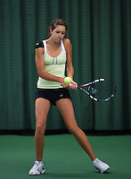 Rotterdam, The Netherlands, 07.03.2014. NOJK ,National Indoor Juniors Championships of 2014, Barbara Huyskes(NED)<br /> Photo:Tennisimages/Henk Koster