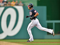 16 May 2012: Washington Nationals shortstop Ian Desmond rounds the bases after hitting a home run against the Pittsburgh Pirates at Nationals Park in Washington, DC. The Nationals defeated the Pirates 7-4 in the first game of their 2-game series. Mandatory Credit: Ed Wolfstein Photo