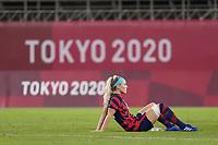 KASHIMA, JAPAN - AUGUST 5: Julie Ertz #8 of the United States during a game between Australia and USWNT at Kashima Soccer Stadium on August 5, 2021 in Kashima, Japan.
