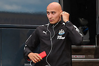 Jono Shelvey arrives at the Northern Commercials Stadium before the pre season friendly match between Bradford City and Newcastle United at the Northern Commercial Stadium, Bradford, England on 26 July 2017. Photo by Thomas Gadd.