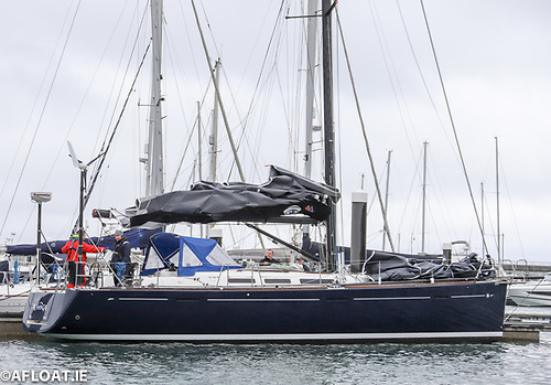 Emmet Sheridan'sDufour 45e from Howth at Dun Laoghaire Harbour last Saturday