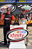 2017 NASCAR Xfinity Series<br /> My Bariatric Solutions 300<br /> Texas Motor Speedway, Fort Worth, TX USA<br /> Saturday 8 April 2017<br /> Erik Jones, Game Stop/ GAEMS Toyota Camry in Sunoco Victory Lane, Christopher Gabehart<br /> World Copyright: Logan Whitton/LAT Images<br /> ref: Digital Image 17TEX1LW2118