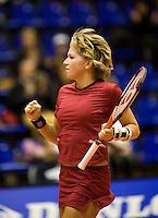 12-12-07, Netherlands, Rotterdam, Sky Radio Masters, Michaella Krajicek  juicht ze heeft  Lesley Kerkhove verslagen
