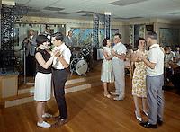 Villa Leona Resort, Catskill, NY. Couples dancing & a band playing