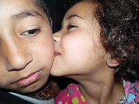 The Trouble Makers. I am Ali and here is my little sister Bayan. She always hits me. I love her so much I can't even hit her back. She was playing and hit me so hard it caused me pain that hid behind my eyes. She came to hug me so I wouldn't cry. She misses me when I am away.