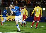 Jon Daly celebrates his goal for Rangers