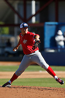 Tyler Gatica participates in the Jesse Flores All Star Game at the Urban Youth Academy on November 4, 2012 in Compton, California. (Larry Goren/Four Seam Images)