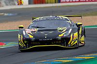 #60 Iron Lynx Ferrari 488 GTE EVO LMGTE Am, Claudio Schiavoni, Paolo Ruberti, Raffaele Giammaria, 24 Hours of Le Mans , Qualifying Practice , Circuit des 24 Heures, Le Mans, Pays da Loire, France