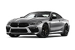 Stock pictures of low aggressive front three quarter view of 2020 BMW M8 M8-Competition 2 Door Coupe Low Aggressive