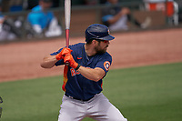 Houston Astros Steven Souza Jr. (20) bats during a Major League Spring Training game against the Miami Marlins on March 21, 2021 at Roger Dean Stadium in Jupiter, Florida.  (Mike Janes/Four Seam Images)