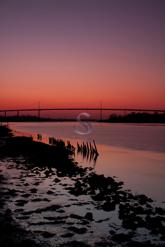 The Erskine Bridge and the River Clyde, from Bowling Basin<br /> <br /> Copyright www.scottishhorizons.co.uk/Keith Fergus 2012 All Rights Reserved