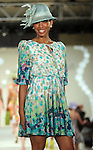 A model walks the runway at the Brentwood Scholarship Luncheon and Macy's Fashion Show at the Hilton Americas Hotel Sunday June 3,2012. (Dave Rossman/For the Chronicle)