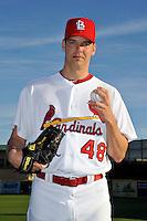 Mar 01, 2010; Jupiter, FL, USA; St. Louis Cardinals pitcher Rich Hill (48) during  photoday at Roger Dean Stadium. Mandatory Credit: Tomasso De Rosa/ Four Seam Images