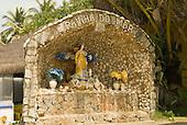Ilheus, Bahia State, Brazil. Southern beaches; shrine to the Queen of the Sea (Rainha do Mar) Iemanja in Candomble religion.