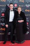 Gustavo Salmeron and his mother attends red carpet of Goya Cinema Awards 2018 at Madrid Marriott Auditorium in Madrid , Spain. February 03, 2018. (ALTERPHOTOS/Borja B.Hojas)