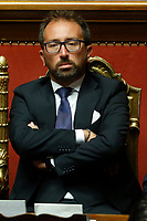 Minister of Justice Alfonso Bonafede<br /> Rome September 10th 2019. Senate. Discussion and Trust vote at the new Government. <br /> Foto  Samantha Zucchi Insidefoto