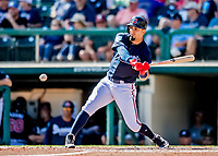 25 February 2019: Atlanta Braves outfielder Rafael Ortega in action during a pre-season Spring Training game against the Washington Nationals at Champion Stadium in the ESPN Wide World of Sports Complex in Kissimmee, Florida. The Braves defeated the Nationals 9-4 in Grapefruit League play in what will be their last season at the Disney / ESPN Wide World of Sports complex. Mandatory Credit: Ed Wolfstein Photo *** RAW (NEF) Image File Available ***