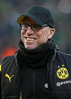 18.02.2018, Football 1. Bundesliga 2017/2018, 23.  match day, Borussia Moenchengladbach - Borussia Dortmund, Borussia-Park Moenchengladbach. Trainer Peter Stoeger (Dortmund)  *** Local Caption *** © pixathlon<br /> <br /> Contact: +49-40-22 63 02 60 , info@pixathlon.de