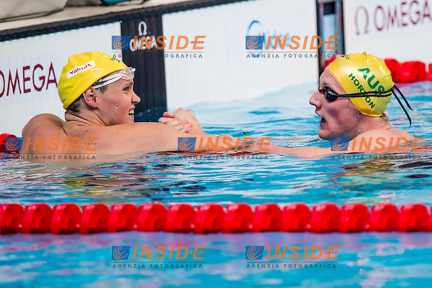 (L to R) MCKEON David HORTON, Mack AUS<br /> 400 Freestyle Men Heats<br /> Swimming - Kazan Arena<br /> Day10 02/08/2015<br /> XVI FINA World Championships Aquatics Swimming<br /> Kazan Tatarstan RUS July 24 - Aug. 9 2015 <br /> Photo A.Masini/Deepbluemedia/Insidefoto