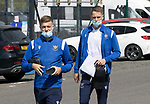 St Johnstone v Fleetwood Town…24.07.21  McDiarmid Park<br />Reece Devine and Hayden Muller arrive at McDiarmid Park ahead of today's pre-season friendly against Fleetwood Town<br />Picture by Graeme Hart.<br />Copyright Perthshire Picture Agency<br />Tel: 01738 623350  Mobile: 07990 594431