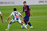 8th July 2020; Camp Nou, Barcelona, Catalonia, Spain; La Liga Football, Barcelona versus Espanyol; Picture show Leo Messi and Marc Roca