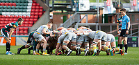 20th February 2021; Welford Road Stadium, Leicester, Midlands, England; Premiership Rugby, Leicester Tigers versus Wasps; Ben Vellacott of Wasps with the ball before a scrum