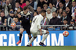 Real Madrid's Carlos Henrique Casemiro and AFC Ajax's Joel Veltman during a UEFA Champions League match. Round of 16. Second leg. March, 5,2019. (ALTERPHOTOS/Alconada)