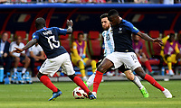 KAZAN - RUSIA, 30-06-2018: Ngolo KANTE (Izq) y Blaise MATUIDI (Der) jugadores de Francia disputan el balón con Lionel MESSI (C) (C)jugador de Argentina durante partido de octavos de final por la Copa Mundial de la FIFA Rusia 2018 jugado en el estadio Kazan Arena en Kazán, Rusia. / Ngolo KANTE (L) and Blaise MATUIDI (R) player of France fights the ball with Lionel MESSI (C) (C) player of Argentina during match of the round of 16 for the FIFA World Cup Russia 2018 played at Kazan Arena stadium in Kazan, Russia. Photo: VizzorImage / Julian Medina / Cont