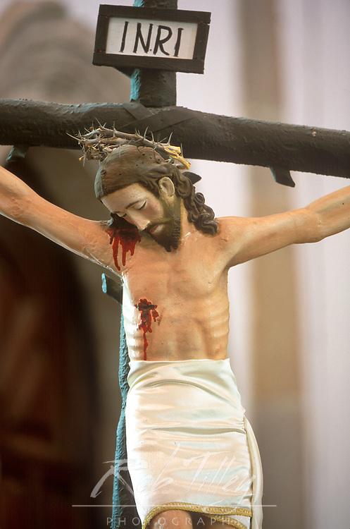 Mexico, Baja California Sur, San Ignacio, Mission San Ignacio Kadakaanman, Christ on the Cross