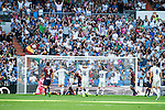 "Real Madrid's player Cristiano Ronaldo, Mateo Kovacic, Francisco Roman ""Isco"" and Toni Kroos and Eibar FC's player Asier Riesgo, Gonzalo Escalante and Francisco Manuel Rico during a match of La Liga Santander at Santiago Bernabeu Stadium in Madrid. October 02, Spain. 2016. (ALTERPHOTOS/BorjaB.Hojas)"