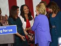 Hillary Clinton + Garcelle Beauvais @ the Women For Hillary Organizing Event held @ West Los Angeles College.<br /> June 3, 2016