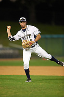 Pitt Panthers shortstop P.J. DeMeo (2) during practice before a game against the Ohio State Buckeyes on February 20, 2016 at Holman Stadium at Historic Dodgertown in Vero Beach, Florida.  Ohio State defeated Pitt 11-8 in thirteen innings.  (Mike Janes/Four Seam Images)