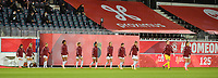 Swiss team  pictured entering the pitch of  a female soccer game between the national teams of Belgium , called the Red Flames and Switzerland on the 8 th and last matchday in group H for the qualification for the Womens EURO 2022 in England , on Tuesday 1 th of December 2020  in Leuven , Belgium . PHOTO SPORTPIX.BE   SPP   DIRK VUYLSTEKE