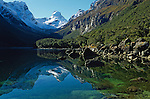 Lake Mackenzie on the Routeburn Track in Fiordland National Park. New Zealand.