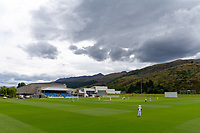20th November 2020; John Davies Oval, Queenstown, Otago, South Island of New Zealand. New Zealand A versus  West Indies. Cloudy weather encroaches on the bowl