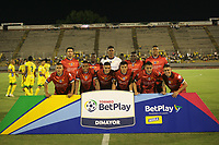 NEIVA - COLOMBIA, 17-02-2020.Formación de Fortaleza CEIF. Atlético Huila  y Fortaleza CEIF en partido por fecha 3 del Torneo BetPlay DIMAYOR I 2020 jugado en el estadio Guillermo Plazas Alcid de la ciudad de Neiva. /Team of Fortaleza CEIF.Atletico Huila and Fortaleza CEIF for the date 3 of the BetPlay DIMAYOR Tournament  I 2020 played at Guillermo Plazas Alcid stadium in Neiva city. Photo: VizzorImage / Sergio Reyes / Cont