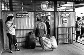 """Trade tourists"" cross into Poland from the Ukraine at the border town of Przemysl with bags of imported goods intended for sale in Poland."