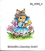 EASTER, OSTERN, PASCUA, paintings+++++,KL4586/4,#e#, EVERYDAY ,rabbit,rabbits ,sticker,stickers,
