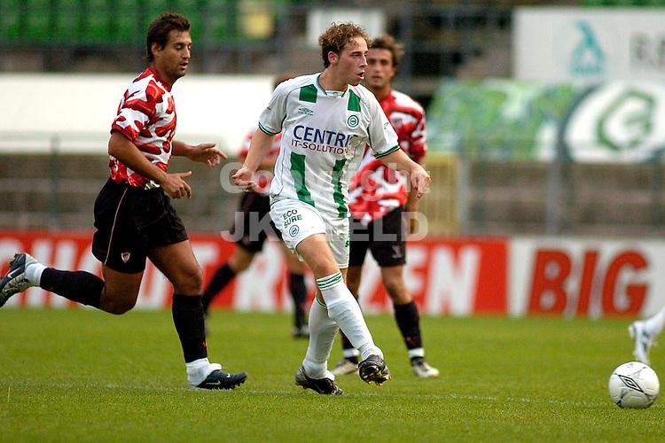groningen - athletic club bilbao 3-2 voorbereiding seizoen 2004-2005 gijs luirink bouwt een aanval op