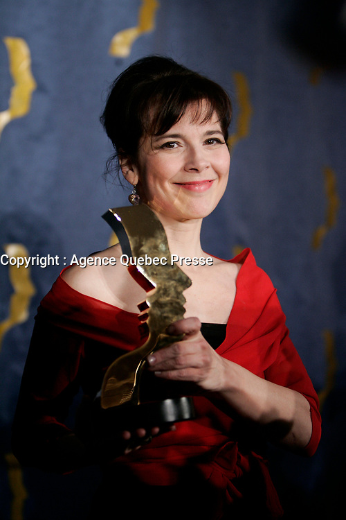 Anne Dorval, actress,awarded at the<br /> Gala Prix Gemeaux 2005<br /> photo : (c)  Images Distribution