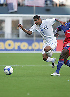Melvin Valladares chases down the ball. Honduras defeated Haiti 1-0 during the First Round of the 2009 CONCACAF Gold Cup at Qwest Field in Seattle, Washington on July 4, 2009.