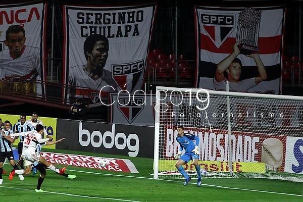 São Paulo (SP), 14/08/2021 - São Paulo-Grêmio - Partida entre São Paulo e Grêmio válida pelo Campeonato Brasileiro no estádio do Morumbi em São Paulo, neste sábado (14).
