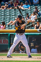 Roger Kieschnick (33) of the Salt Lake Bees at bat against the Albuquerque Isotopes in Pacific Coast League action at Smith's Ballpark on June 28, 2015 in Salt Lake City, Utah.  The Isotopes defeated the Bees 8-3.(Stephen Smith/Four Seam Images)