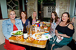 Enjoying the evening in Molly J's on Saturday, l to r: Laura Griffin, Loretta Kelly, Luare Flaherty, Marisa Moriarty and Emer Brosnan (All Tralee)