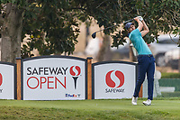 11th September 2020, Napa, California, USA;  Carlos Ortiz of Mexico tees off during the second round of the Safeway Open PGA tournament on September 11, 2020 at Silverado Country Club in Napa, CA.