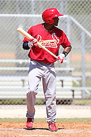 St. Louis Cardinals minor league player Virgil Hill #32 during a spring training game vs the New York Mets at the Roger Dean Sports Complex in Jupiter, Florida;  March 24, 2011.  Photo By Mike Janes/Four Seam Images